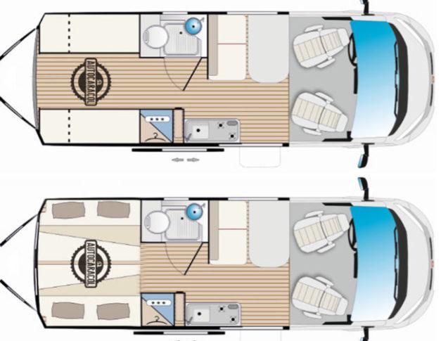 Furgoneta camper de alquiler 2 camas dobles