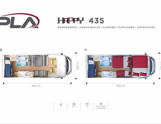 Autocaravana de alquiler PLA Happy 435