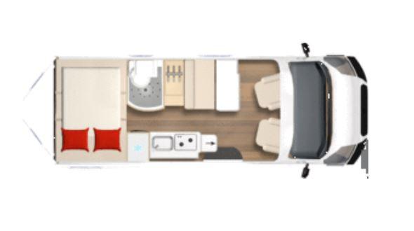 Furgoneta camper de segunda mano Bürstner City Car C601 plano