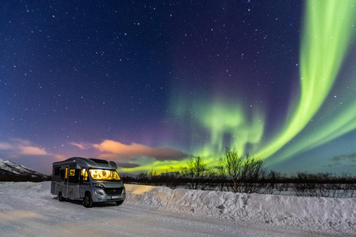 ir a la nieve en autocaravana