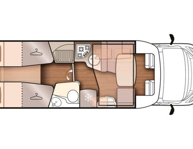Autocaravana de alquiler McLouis MC4 373 distribución
