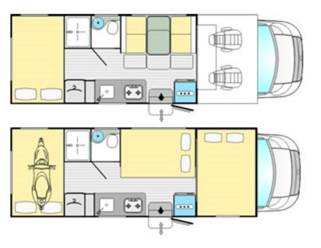 Autocaravana de segunda mano Rimor Kayak 5 cambio automático plano