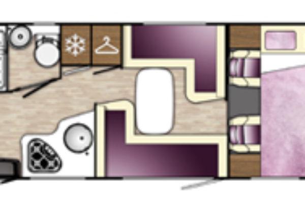 Autocaravana de alquiler Benimar 324 Sport vista de planta