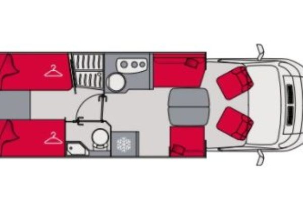 Autocaravana de alquiler Pilote Pacific 740GF Exclusive Edition plano