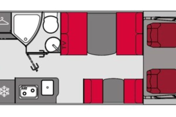 Autocaravana de alquiler Pilote Essentiel C690 Exclusive Edition plano