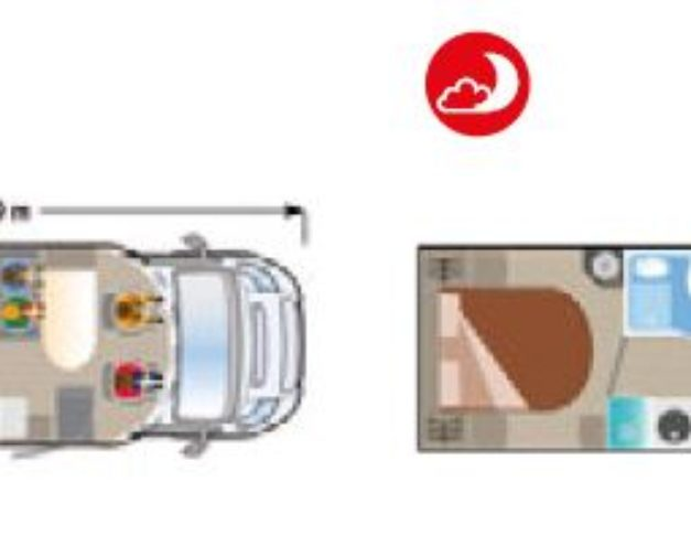 Autocaravana nueva Ilusion XMK 695 plano