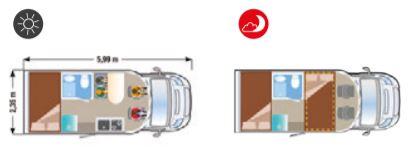 Autocaravana nueva Ilusion XMK 590 PLANO