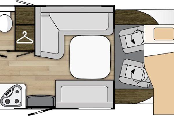 Autocaravana de alquiler Benimar Tessoro481 plano