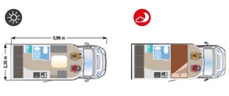 Autocaravana nueva Ilusion XMK 590D H plano