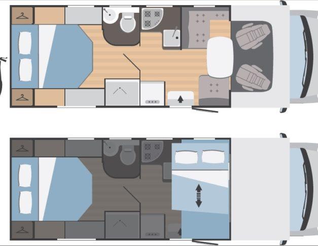 Autocaravana nueva Rimor Hygge 69 Plus Edition 2021 plano