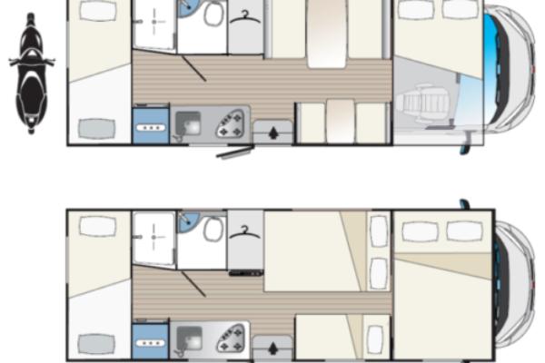 Autocaravana de segunda mano Blucamp FLY 71 plano