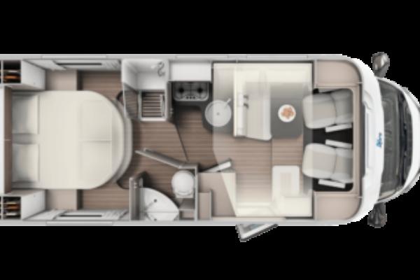 Autocaravana nueva Blucamp Ocean 525 plano