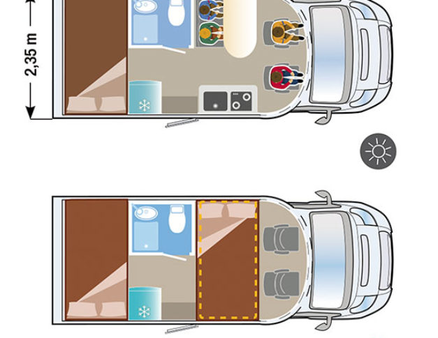 Autocaravana de alquiler Ilusion XMK 590 plano