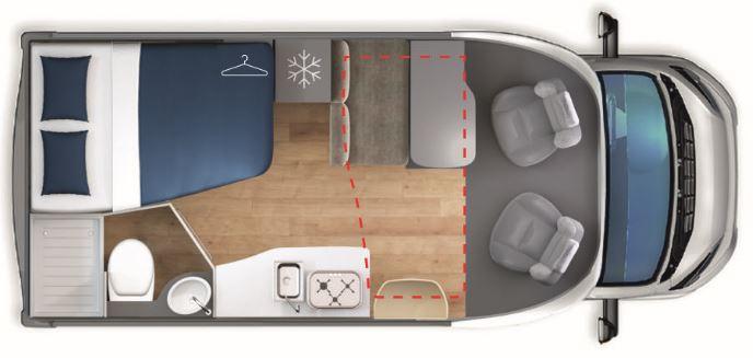 Autocaravana de alquiler Giottiline S330 plano día