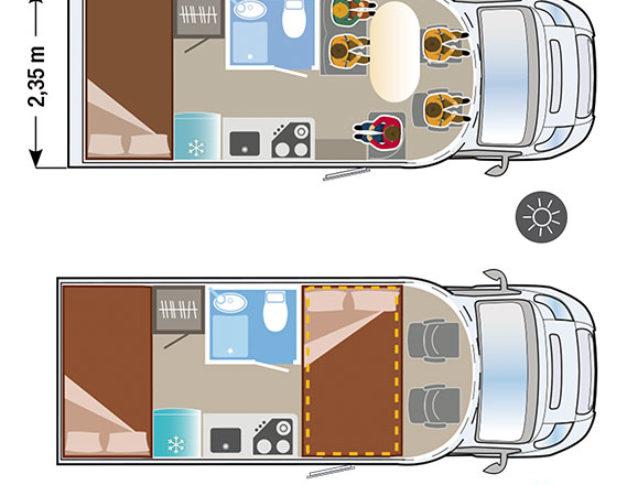 Autocaravana nueva Ilusion XMK 670 plano