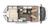 Furgoneta camper nueva Laser 540 plano