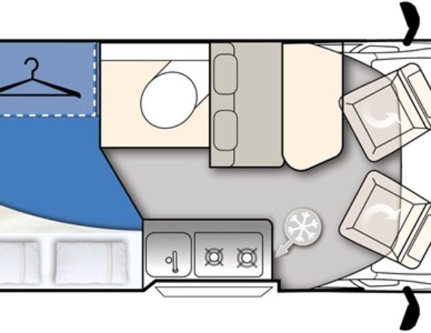 Furgoneta camper de alquiler Elnagh E-Van K2 plano