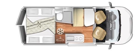 Camper de alquiler CI Kyros 5 plano