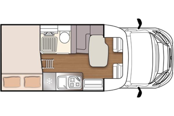 Autocaravana de alquiler McLouis MC4 231 plano