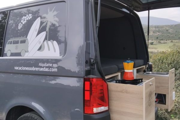 Furgoneta camper de ocasión Volkswagen T6 California