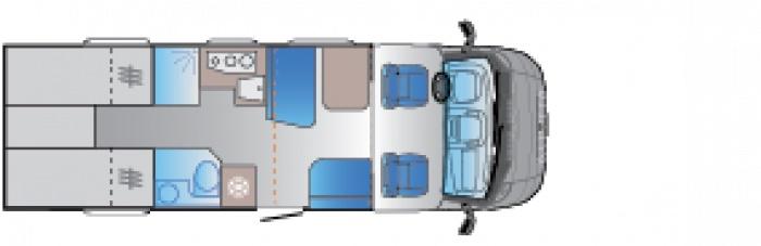 Autocaravana de alquiler Sun Living S75 SL dia
