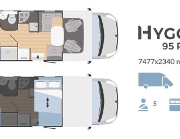 Autocaravana de alquiler Rimor Hygge 95 Plus plano