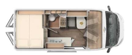 Camper de alquiler Carado 601 Clever+ Edition plano