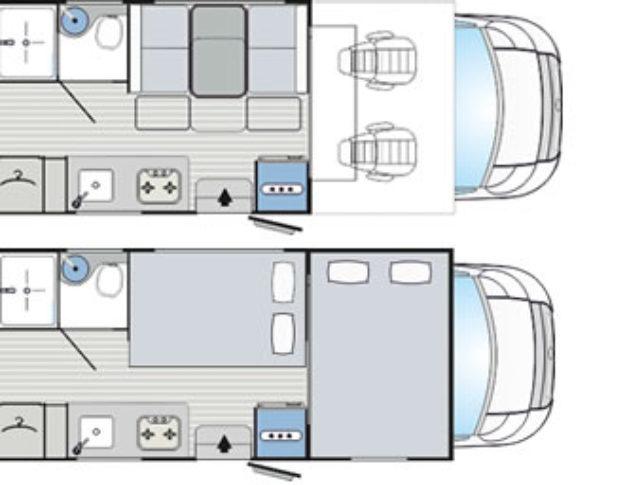 Autocaravana de alquiler Rimor Seal 7 plano