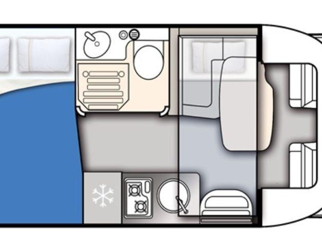 Autocaravana de alquiler Elnagh Baron 531 plano