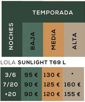 Autocaravana de alquiler Sunlight T69 L temporadas y precios