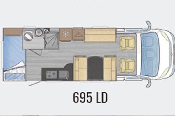 Autocaravana de alquiler Across 695 LD plano