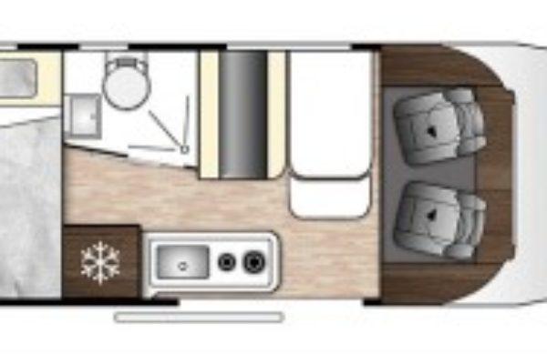 Camper de alquiler Benimar Benivan 140 Up plano